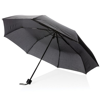"""XD COLLECTION 21"""" Schirm mit manueller Öffnung und Einkaufstasche, schwarz"""