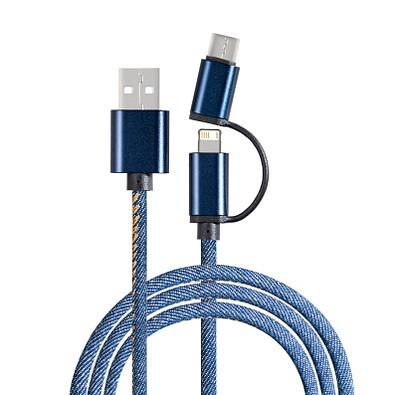 reeves® 3-in-1 Ladekabel Reeves-Denim, blau