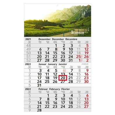 geiger notes 3-Monats-Wandkalender Recycling  2022