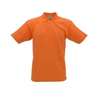 JAMES & NICHOLSON Unisex Poloshirt, orange, L