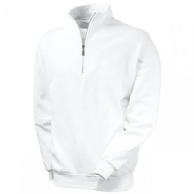 FRUIT OF THE LOOM® Unisex Sweatshirt Zip-Neck, weiß, L