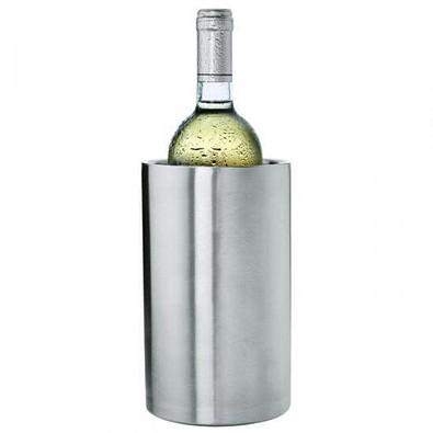Edelstahl-Flaschenkühler, silber