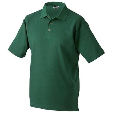 JAMES & NICHOLSON Unisex Poloshirt, dunkelgrün, M