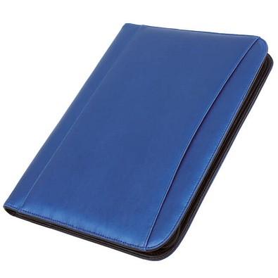 Konferenzmappe mit Rechner, DIN A4, blau