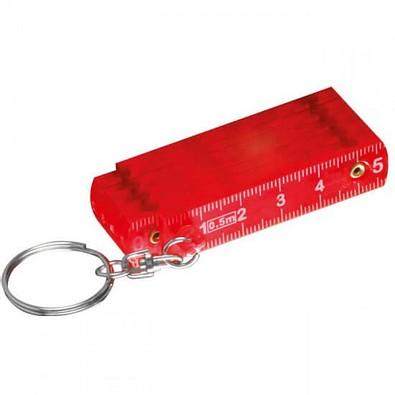 Schlüsselanhänger Maßstab, rot/transparent