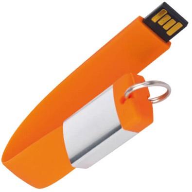 Design-Schlüsselanhänger mit USB-Stick, Orange, 8 GB