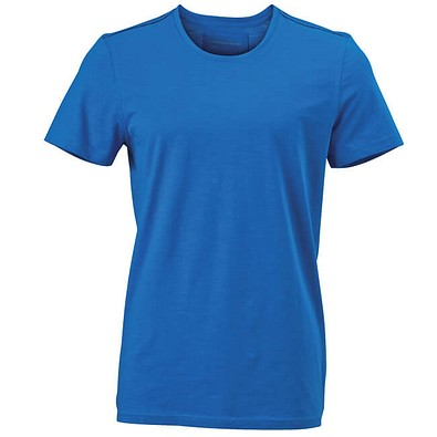 JAMES & NICHOLSON Herren T-Shirt mit Rundhals, hellblau, M