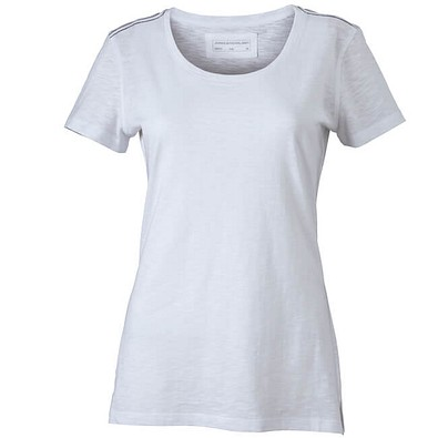 JAMES & NICHOLSON Damen T-Shirt, weiß, XL