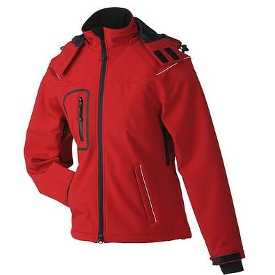 JAMES & NICHOLSON Damen Softshell-Jacke, rot, L