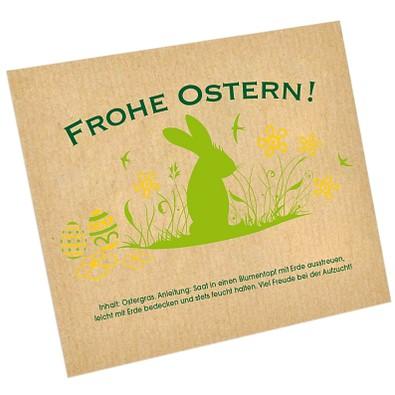 Ostergras-Saattüte, Hase auf Wiese