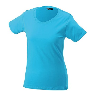 JAMES & NICHOLSON Damen T-Shirt, türkis, L