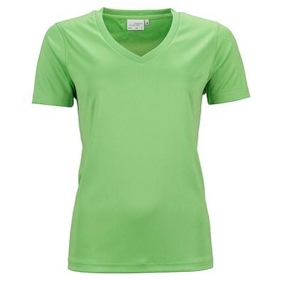 JAMES & NICHOLSON Damen Funktions T-Shirt Active, grün, S