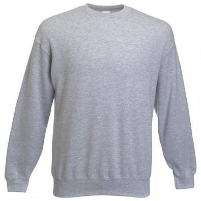 FRUIT OF THE LOOM® Unisex Sweatshirt Set-In, grau/meliert, M