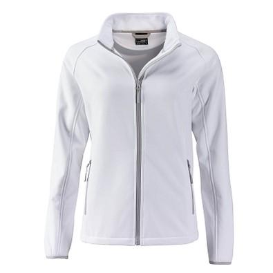 JAMES & NICHOLSON Damen Softshell-Jacke Promo, weiß, XL