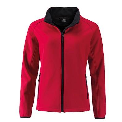 JAMES & NICHOLSON Damen Softshell-Jacke Promo, rot, L