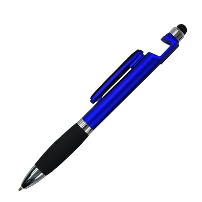 Kugelschreiber 4in1 Santiago, blaue Mine, blau-metallic