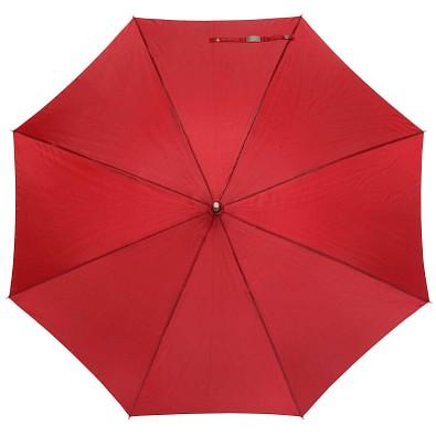 Automatik Windproof Taschenschirm mit farbigem Griff, Dunkelrot