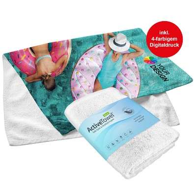 POLYCLEAN Handtuch ActiveTowel Relax, 100 x 50 cm, weiß