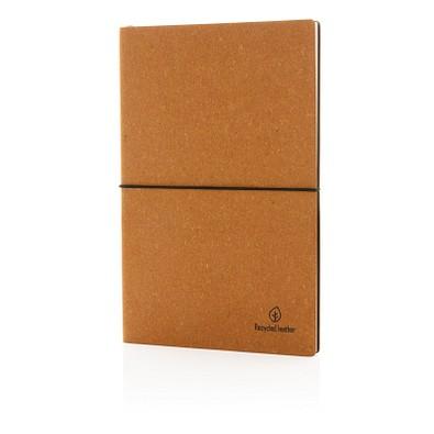 XD COLLECTION Notizbuch aus recyceltem Leder, DIN A5, liniert, braun