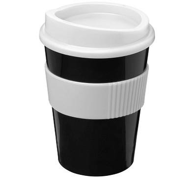 Americano Medio Becher mit Schutzring, 300 ml, schwarz,weiss