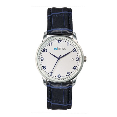 retime® Armbanduhr Budget LII, dunkelblau/silber