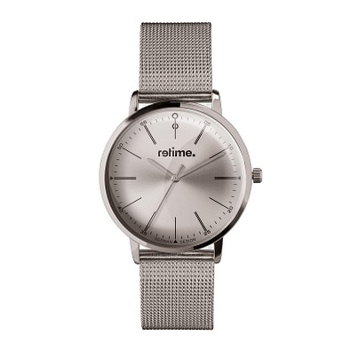 retime® Armbanduhr Classic, silber