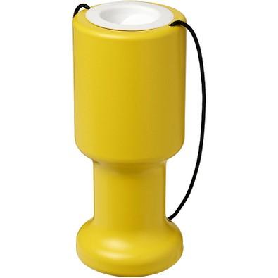 Asra tragbare Sammeldose aus Kunststoff für Spenden, gelb