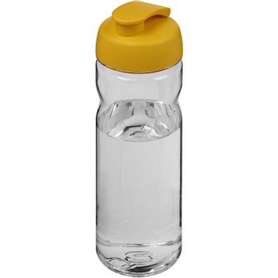 Base Tritan Sportflasche mit Klappdeckel, 650 ml, transparent,gelb