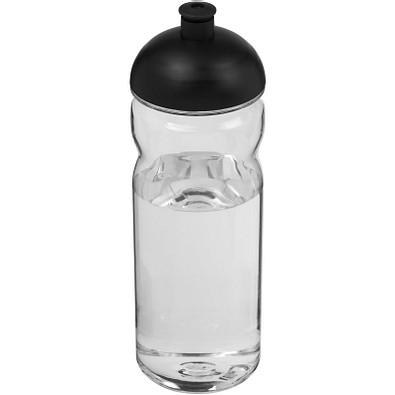 Base Tritan Sportflasche mit Stülpdeckel, 650 ml, transparent,schwarz