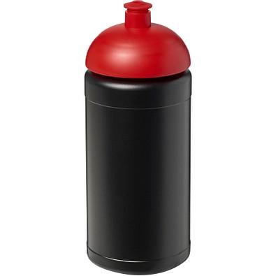 Baseline Plus Sportflasche mit Stülpdeckel, 500 ml, schwarz,rot