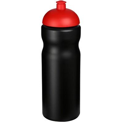 Baseline Plus Sportflasche mit Kuppeldeckel, 650 ml, schwarz,rot