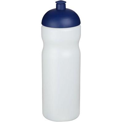 Baseline® Plus 650 ml Sportflasche mit Kuppeldeckel, transparent,blau