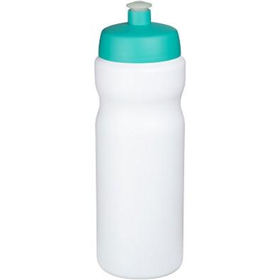 Baseline Plus Sportflasche, 650 ml, weiss,aquablau