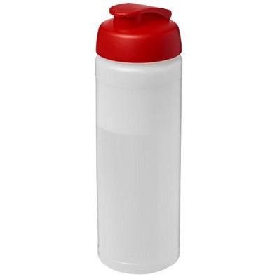 Baseline Plus Flasche mit Klappdeckel, 750 ml, transparent,rot