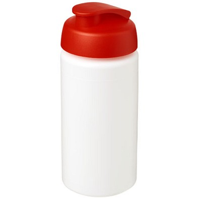 Baseline Plus grip Sportflasche mit Klappdeckel, 500 ml, weiss,rot