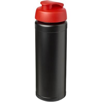 Baseline Plus grip Sportflasche mit Klappdeckel, 750 ml, schwarz/rot
