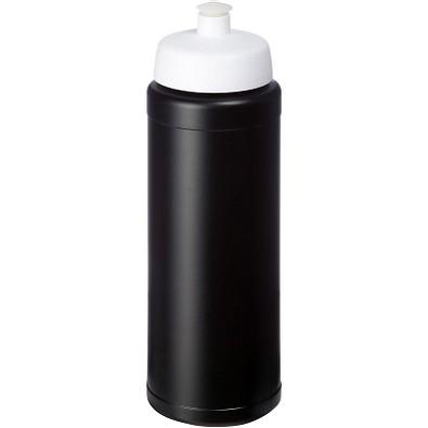 Baseline Plus grip Sportflasche mit Sportdeckel, 750 ml, schwarz,weiss