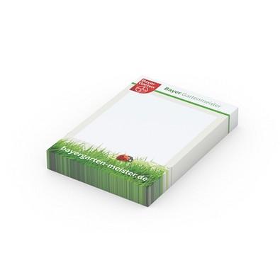 geiger notes Haftpapier Basic 50 x 72 Bestseller, 100 Blatt, inkl. Druck, weiß