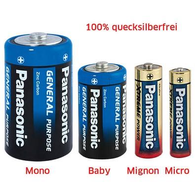 Original Panasonic General Purpose Batterie, Micro, 4er-Blister