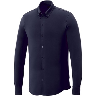 ELEVATE Herren Langarm Hemd, dunkelblau, S