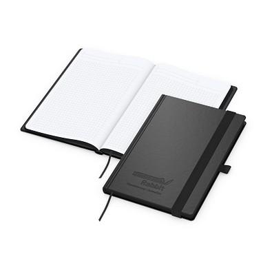 geiger notes Notizbuch Black-Book Bestseller, DIN A5, inkl. Prägung, schwarz