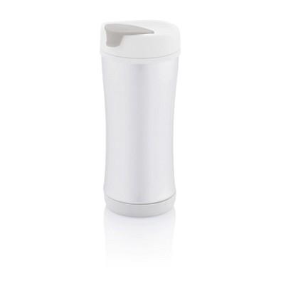XD DESIGN Boom Eco Becher, 225 ml, weiß/grau