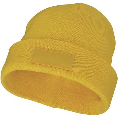 Boreas Mütze mit Aufnäher, gelb