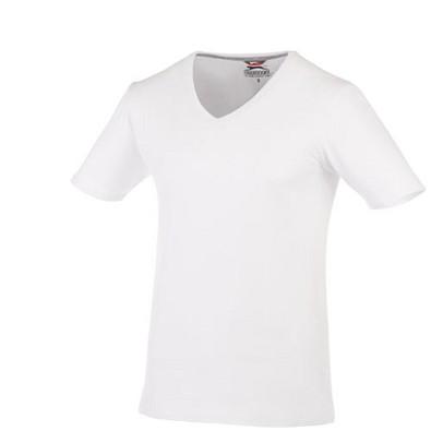 Slazenger™ Herren T-Shirt Bosey mit V-Ausschnitt, weiß, XXXL