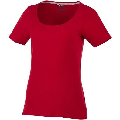 Slazenger™ Damen T-Shirt Bosey mit weitem Rundhalsausschnitt, dunkelrot, XL