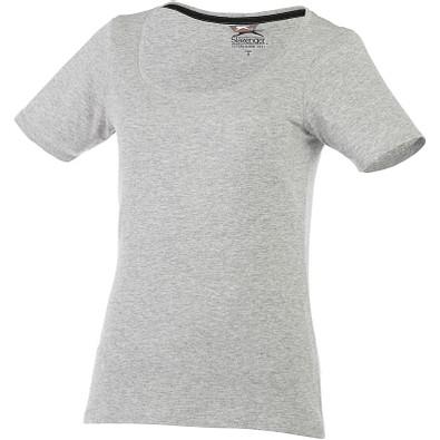 Slazenger™ Damen T-Shirt Bosey mit weitem Rundhalsausschnitt, sportgrau, XL