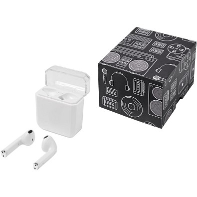 Braavos drahtlose TrueWireless Bluetooth® Ohrhörer mit Ladestation, weiß