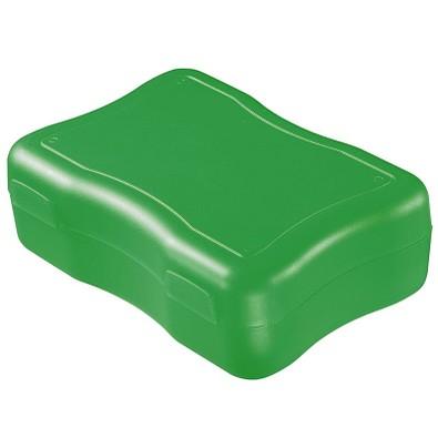 Brotzeitdose Wave, 17,8 x 12,2 cm, groß, standard-grün