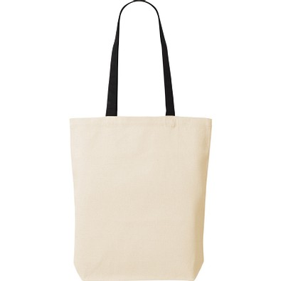 Canvas Tasche Shoppy Colour, schwarz