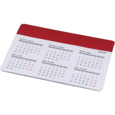 Chart Mauspad mit Kalender, rot